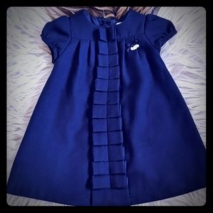 Tartine et Chocolat navy blue dress 18M